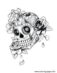 Sugar Skull Coloring Pages For Adults Free Printable Sugar Skull