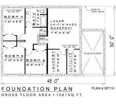 sidesplit house plan sp110 floor plan