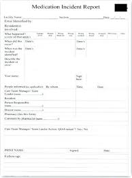 Free Accident Report Form Template Employee Car Near Miss Reporting
