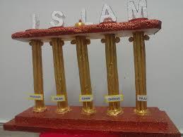 Thermocol Pillar Design Five Pillars Of Islam Learn While You Craft