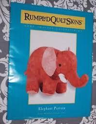 Rumpled Quilt Skins Elephant Stuffed Animal Quilting Pattern New M504 &  Adamdwight.com