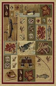 fish scale area rug rather be fishing cabin place