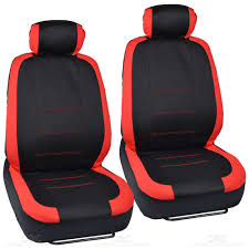 Two Tone Black & Red Accent Stripes Car Seat Covers - Cute ...