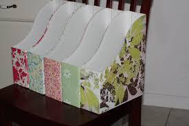 Fabric Magazine Holder Once Each Magazine Holder Covered Paper Fabric Coat Tierra Este 19