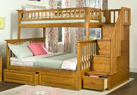 Loft Bed with Drawers and Stair