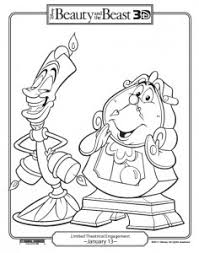 Small Picture FREE Printable Beauty and the Beast Coloring Pages She Scribes