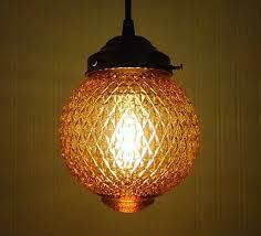Vintage Mid Century Light Fixtures Vintage Amber Pendant Light Fixture Mid Century The Lamp