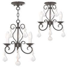 livex 50763 92 donatella english bronze mini chandelier light flush mount lighting loading zoom