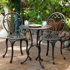 wrought iron garden furniture. bistro table and chairs cast iron patio furniture set outdoor wrought garden