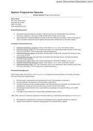 Systems Programmer Resume Z Os System Programmer Resume Bill