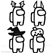 71k.) among us coloring pages are based on the action game of the same name, in which you need to recognize a traitor on a spaceship. Among Us Coloring Page Halloween Costumes Skins Hats Xcolorings Com