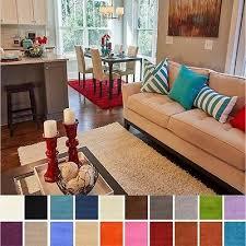 contemporary 7 x 10 solid fluffy gy area rug soft plain carpet modern