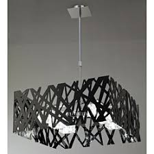 black modern chandeliers. Modern Square Ceiling Light With Black Gloss Zig Zags Lights Chandeliers N