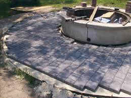 Excellent Ideas Concrete Squares Beauteous How To Install 24quot How To Install Pavers In Backyard