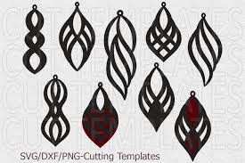 leather earring template svg oriental jewelry svg laser cut example image 3