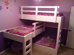 Adorable Pink Teenage Girls Bedroom Decors With White Wooden ...