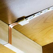 direct wire led under cabinet lighting flat power wire works well to go around cabinet side