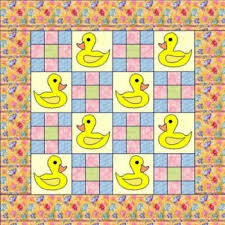Free Baby Quilt Patterns Beauteous Free Baby Duck Pattern Not Only Fun But Easy To Make