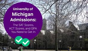 U Of T Gpa Chart University Of Michigan Admissions The Sat Act Scores And