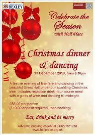 christmas dinner poster new date added for christmas dinner and dancing event hall place