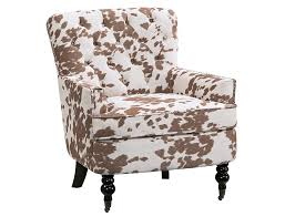 slumberland rachel collection faux cowhide accent chair with regard to remodel 19