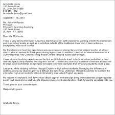 Cover Letter For Teacher Job Covering Letter Format For Teaching Job