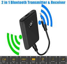 2 in 1 <b>Bluetooth 5.0</b> Transmitter and <b>Receiver</b> 3.5mm AUX <b>Wireless</b> ...