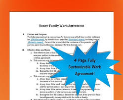52 Luxury Nanny Contract Template Free – Template Free