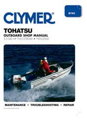 marine shop service repair manuals from clymer tohatsu 2 5 140 hp 2 stroke outboards 1992 2000 service repair