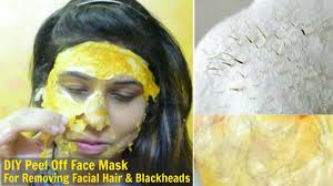 diy l off face mask get rid of unwanted hair blackheads whiteheads at home