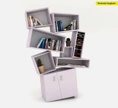 Unusual Bookcase in Chaotical Design