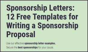 Sponsorship Letters Write Great Proposals With 12 Templates