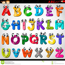 education cartoon alphabet letters for kids royalty free stock
