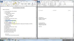 Microsoft Word Full Block Business Letter Notes S Youtube