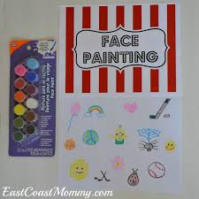 i bought some inexpensive face paint and drew out a few simple designs i am not an artist so i kept things pretty basic but it was still fun