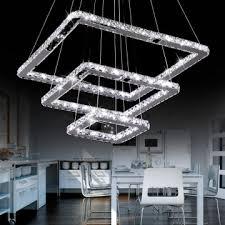 led italian crystal pendant light modern ceiling chandelier