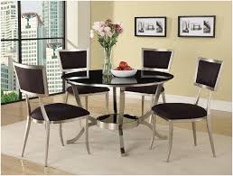 glass kitchen tables sets abbot ultra modern black round glass top dining set