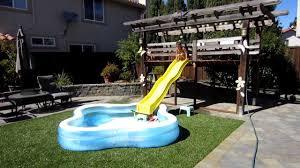 Inflatable Water Slide Commercial Pool Park Kids Wet Bounce Water Slides Backyard