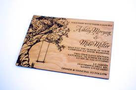 tree with swing wooden wedding invitation real wood laser Real Wood Wedding Invitations tree with swing wooden wedding invitation real wood laser engraved oak tree natural wood save the date real wood wedding invitations custom