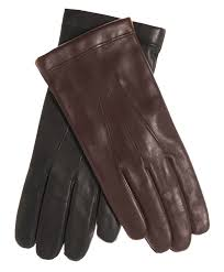 men s italian cashmere lined leather gloves