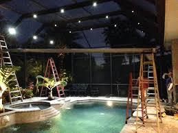 private screen work lighting pool cage sarasota