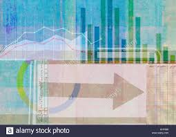 Multi Layered Finance Collage Of Ledger Bar Chart And Line