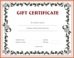 Make Your Own Gift Certificates Free Make Your Own Gift Certificate Free Printable Print Your Own T