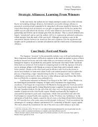 mazda ford case study international business essay