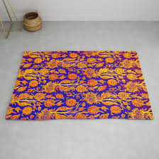 resplendent fl yellow red blue pattern rug by ppandadesign society6