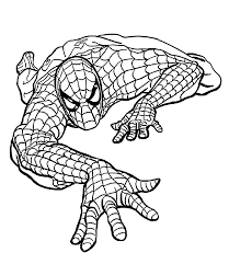 Printable Spiderman Coloring Pages Easy And Fun Spiderman