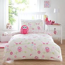childrens double duvet covers boys twit owl pink girls duvet quilt cover bedding set linen duvet