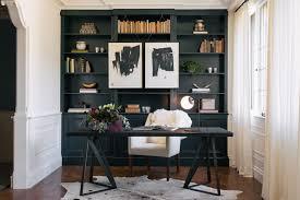 bookshelves for office. Office Built In Bookshelves Home Transitional With Sheepskin Desk Chair Custom Furniture For