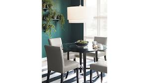 halo ebony round dining table with 48 glass top reviews crate and barrel