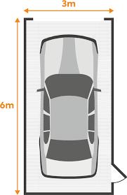average single garage size uk